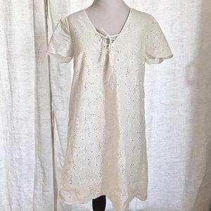 Sezane Ivory Lace Dress